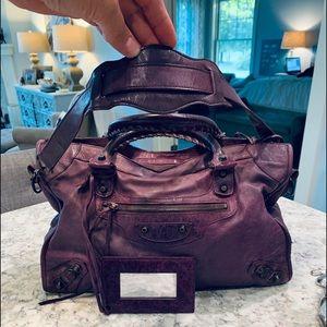 Balenciaga Deep Plum Bag Large